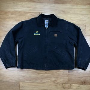 Embroidered Carhartt Blanket Lined Canvas Jacket